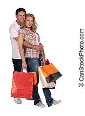 carícia, com, shopping