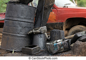 car, óleo, poluição