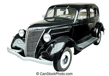 Car 3a - Old vintage black car