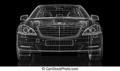 car, 3d, modelo