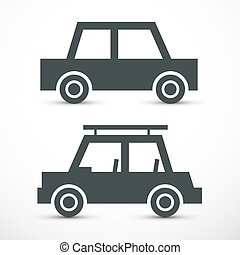 Car. Abstract Automobiles Icon. Vector. Wehicles Symbol.