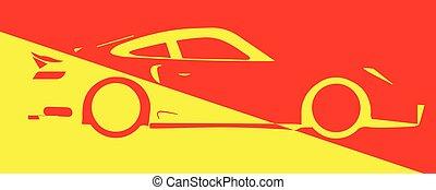 car, abstratos, rapidamente