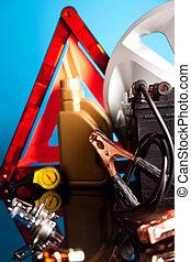 Car Accessories on vivid moto concept