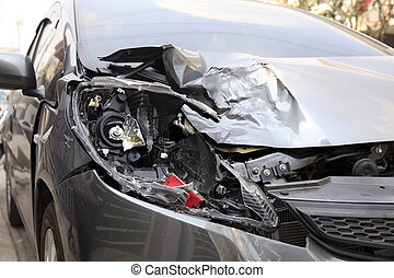 Car accident - Details of a car an accident