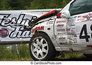 Car accident during Mountain Race