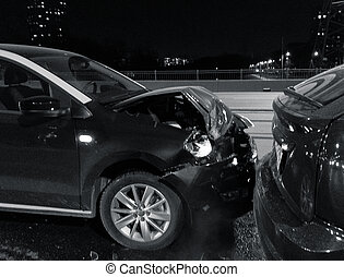 car accident in night city