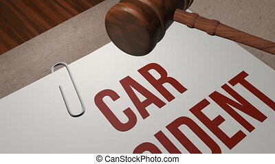 Car Accident lawsuit legal concept shot clip