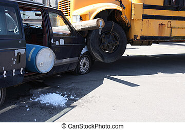 Car accident (Simulation- - Car accident with spilling...