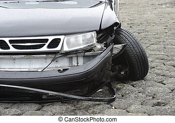 car accident - accident on front of car