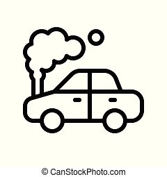 Car accident vector, insurance related line style editable stroke icon
