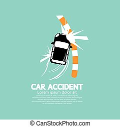 Car Accident With Footpath.