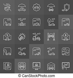 Car accidents icons