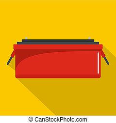 Car accumulator icon, flat style