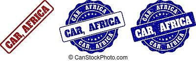 CAR, AFRICA Grunge Stamp Seals