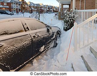 Car after snowstorm