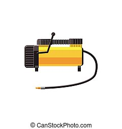 Car air compressor icon in cartoon style