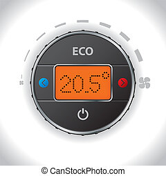 Car air condition button and display design with options