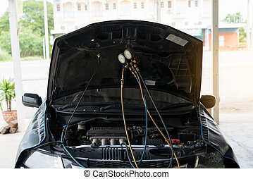 Car air conditioner check service