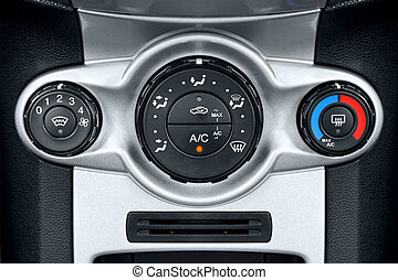 Car air conditioning controls - Photo of the air...