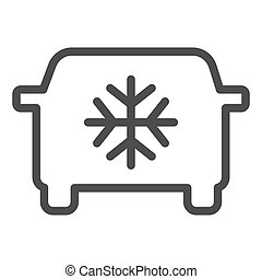 Car air conditioning line icon. Car conditioner vector illustration isolated on white. Automobile airflow outline style design, designed for web and app. Eps 10.
