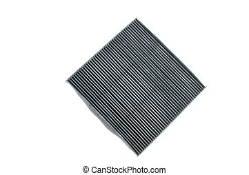 car air filter box on white background