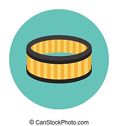 Car air filter icon