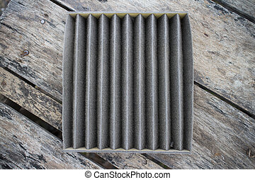 Car air filter is dirty.