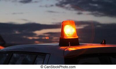 Car alarm flashing