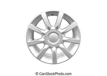 car alloy wheel isolated