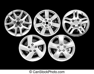 Car aluminum wheel rim isolated