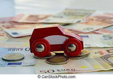 car and banknotes