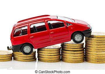 Car and coins