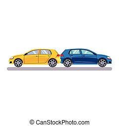Car and Transportation Case. Vector Illustration