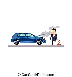 Car and Transportation Fritz. Vector Illustration