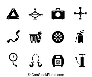 car and transportation icons