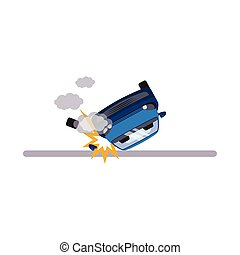 Car and Transportation Issue. Vector Illustration