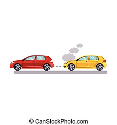 Car and Transportation. Towing Cars. Vector Illustration