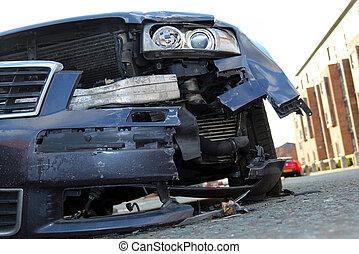car, após, acidente