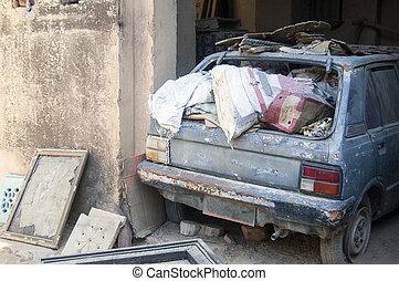 Car As A Garbage Bin