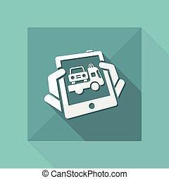 car, assistência, ícone