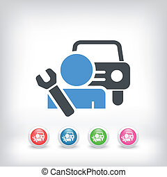 Car assistance icon concept