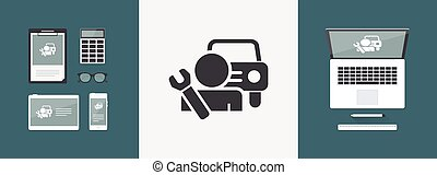 Car assistance icon