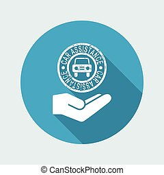 Car assistance services - Minimal icon
