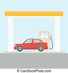 Car at the gas station