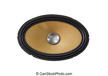 Car audio speaker - Yellow old and dusty car audio speaker,...