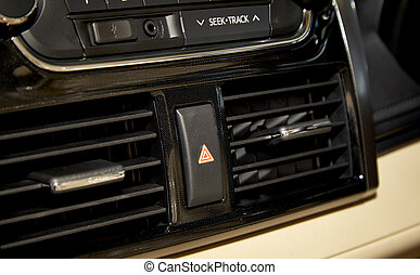 Car audio system front panel