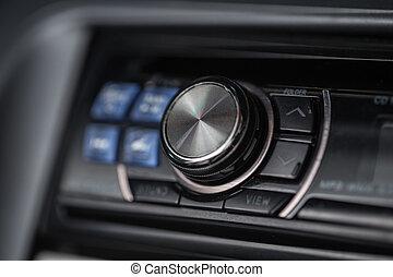 Car audio volume.