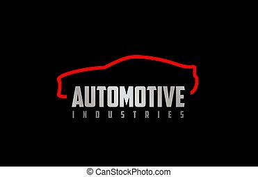 Car auto business logo icon design with red and black colors