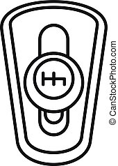 Car auto gearbox icon, outline style