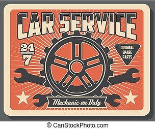 Car auto parts, mechanic service